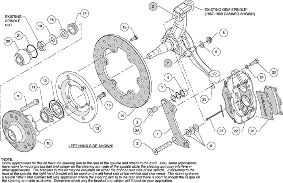 1968 1969 1970 1971-1974 CHEVY NOVA STOCK  DISC BRAKE KIT
